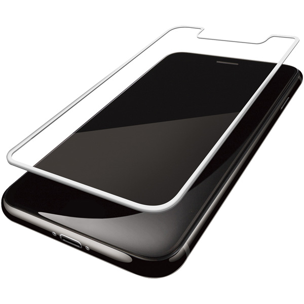 0412c042e0 iPhone XR用フルカバーフィルム/衝撃吸収/ブルーライトカット/指紋防止/反射防止/ホワイト (エレコム) 型番:PM-A18CFLPBLRWH  JANコード:4953103369627